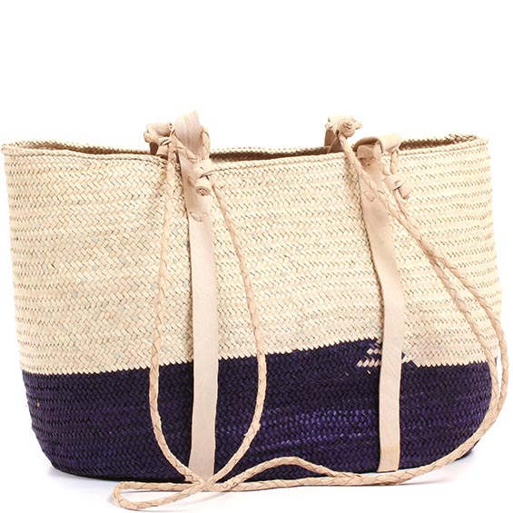 African Market Basket - Tuareg Shopping Tote - Approximately 17.5 Inches Across - #73662