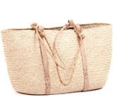 African Market Basket - Tuareg Shopping Tote - Approximately 18 Inches Across - #74014