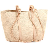 African Market Basket - Tuareg Shopping Tote - Approximately 17 Inches Across - #74015