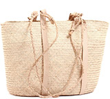 African Market Basket - Tuareg Shopping Tote - Approximately 18 Inches Across - #74016