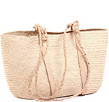 African Market Basket - Tuareg Shopping Tote - Approximately 17 Inches Across - #74017
