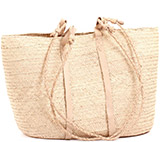 African Market Basket - Tuareg Shopping Tote - Approximately 18 Inches Across - #74018