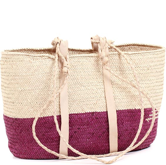 African Market Basket - Tuareg Shopping Tote - Approximately 16.5 Inches Across - #74020