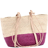 African Market Basket - Tuareg Shopping Tote - Approximately 18.5 Inches Across - #74994
