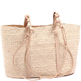 African Market Basket - Tuareg Shopping Tote - Approximately 18 Inches Across - #74999