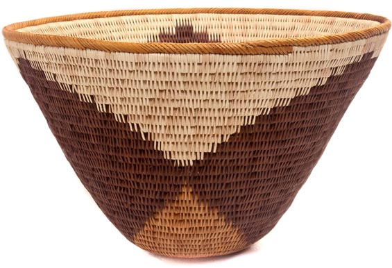 African Basket - Makalani Bowl - 11.75 Inches Across - #48437