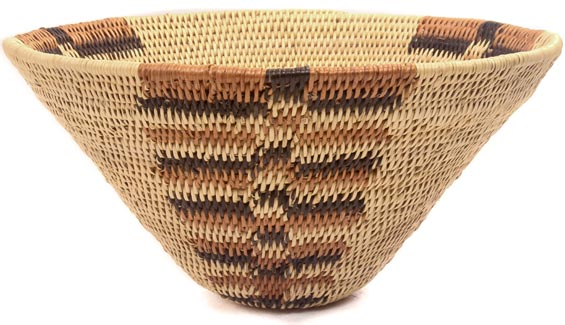 African Basket - Rundu Root Bowl -  9 Inches Across - #48444