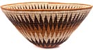 African Basket - Makalani Bowl - 12.75 Inches Across - #48453