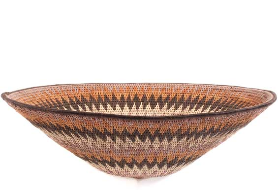 African Basket - Makalani Bowl - 15.75 Inches Across - #61873