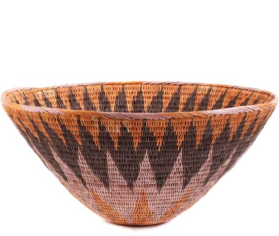 African Basket - Makalani Bowl - 10.75 Inches Across - #61881