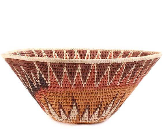 African Basket - Makalani Bowl - 10 Inches Across - #61882