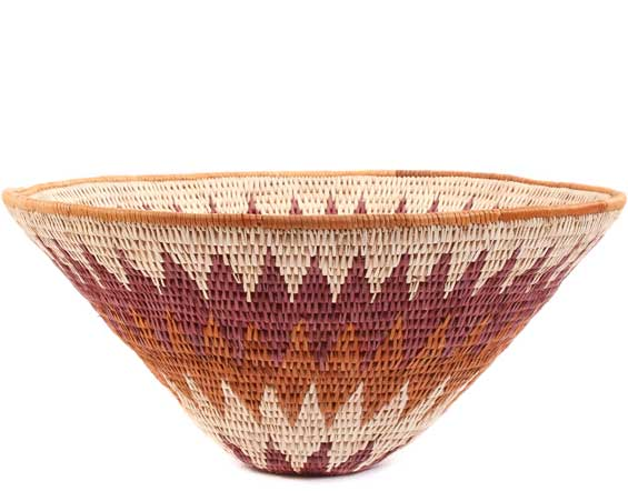 African Basket - Makalani Bowl - 11 Inches Across - #61883
