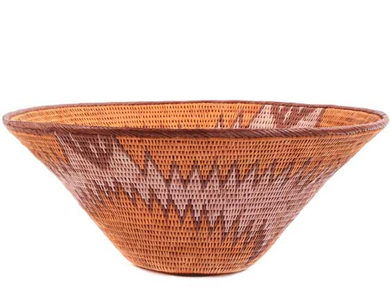African Basket - Makalani Bowl - 12 Inches Across - #61884