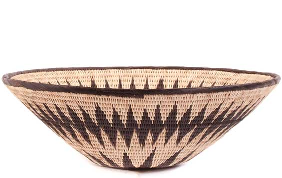 African Basket - Makalani Bowl - 12.25 Inches Across - #61885