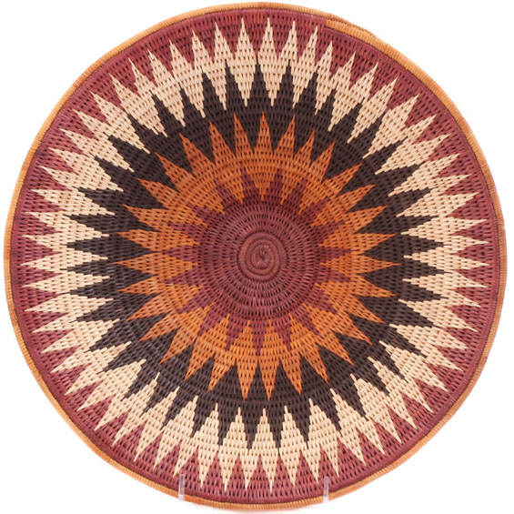 African Basket - Makalani Bowl - 13 Inches Across - #61886