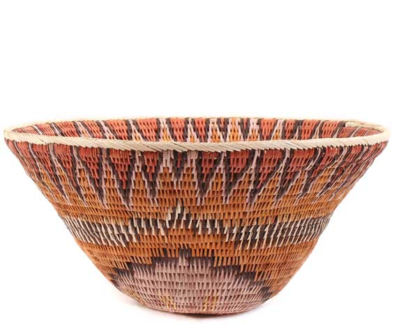 African Basket - Makalani Bowl - 10.75 Inches Across - #61890