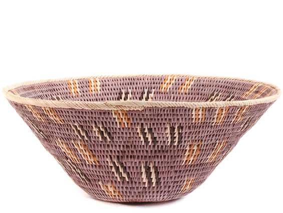 African Basket - Makalani Bowl -  9.75 Inches Across - #61891