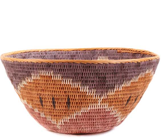African Basket - Makalani Bowl -  9 Inches Across - #61892
