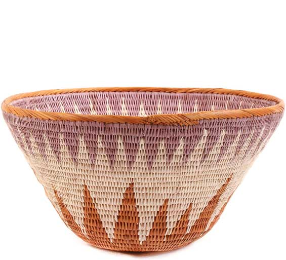 African Basket - Makalani Bowl -  9 Inches Across - #61893