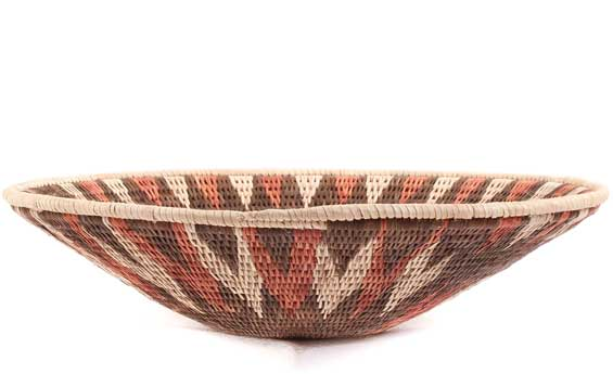 African Basket - Makalani Bowl - 11 Inches Across - #61894