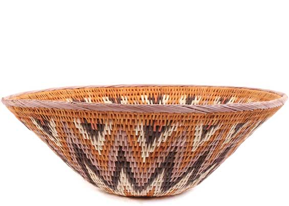 African Basket - Makalani Bowl -  9.75 Inches Across - #61899