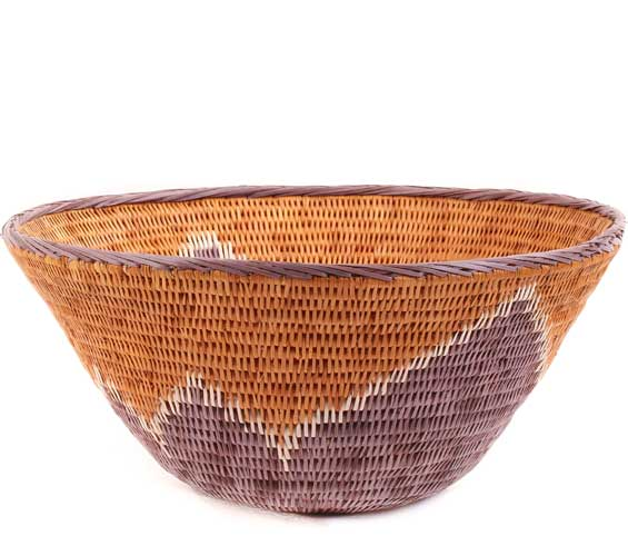 African Basket - Makalani Bowl -  9.25 Inches Across - #61900