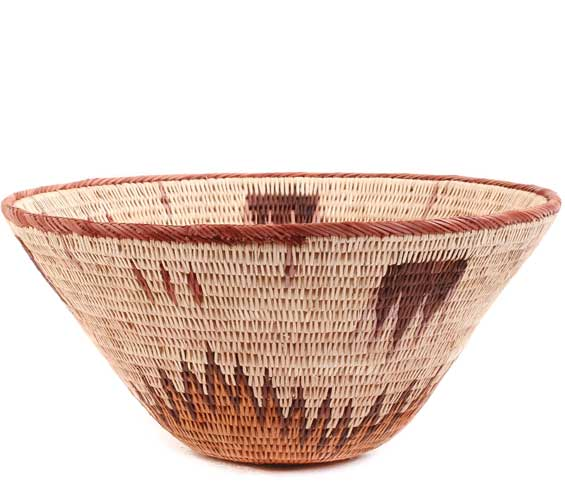 African Basket - Makalani Bowl -  8.5 Inches Across - #61901