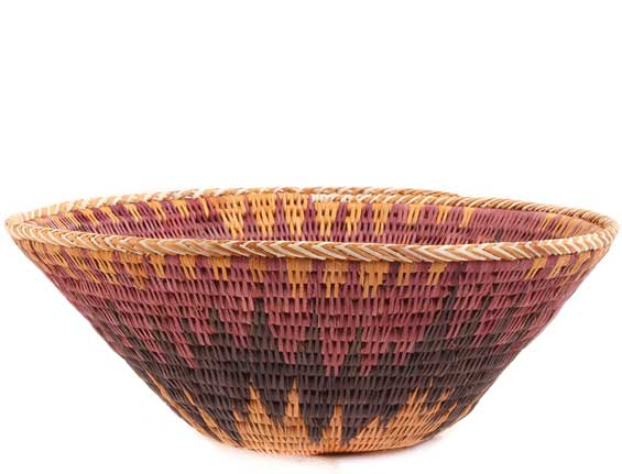 African Basket - Makalani Bowl -  9.5 Inches Across - #61908