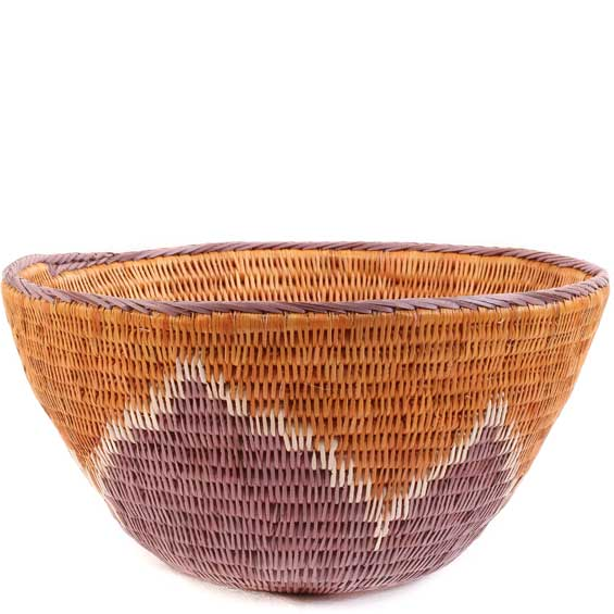 African Basket - Makalani Bowl -  8 Inches Across - #61909