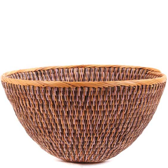African Basket - Makalani Bowl -  7.75 Inches Across - #61911