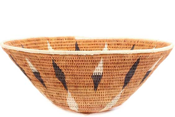 African Basket - Makalani Bowl -  9.75 Inches Across - #71807