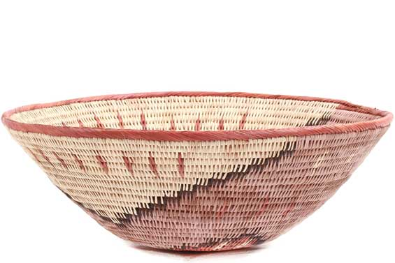 African Basket - Makalani Bowl - 10.25 Inches Across - #71809