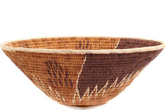 African Basket - Makalani Bowl -  8.5 Inches Across - #71818