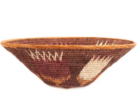 African Basket - Makalani Bowl - 10 Inches Across - #71821