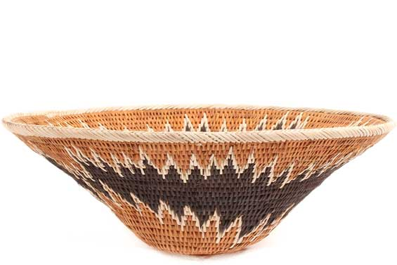 African Basket - Makalani Bowl - 10 Inches Across - #71827
