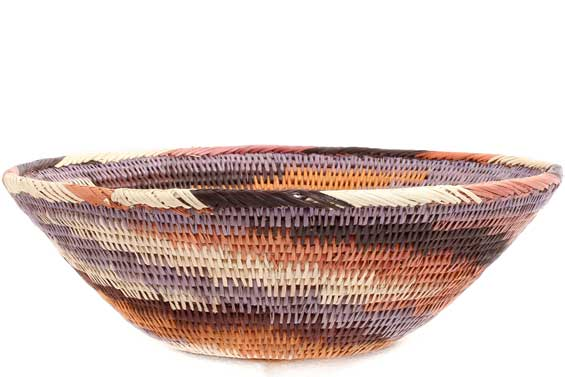 African Basket - Makalani Bowl -  8.75 Inches Across - #71832