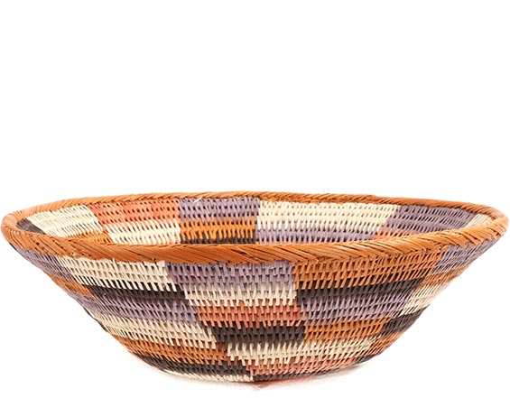 African Basket - Makalani Bowl -  9.5 Inches Across - #73127