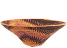 African Basket - Makalani Bowl - 12.5 Inches Across - #73143
