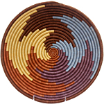 African Basket - Rwanda Sisal Coil Weave Bowl - 12 Inches Across - #33849