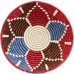African Basket - Rwanda Sisal Coil Weave Bowl - 12 Inches Across - #56921