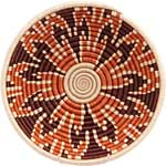 African Basket - Rwanda Sisal Coil Weave Bowl - 12 Inches Across - #56924