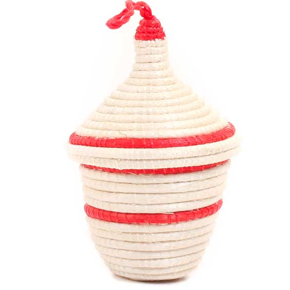 African Basket - Rwandan Peace Basket -  3.5 Inches Tall - #70391