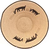 African Basket - Swaziland - Sisal Wildlife Bowl - 11.5 Inches Across - #33076