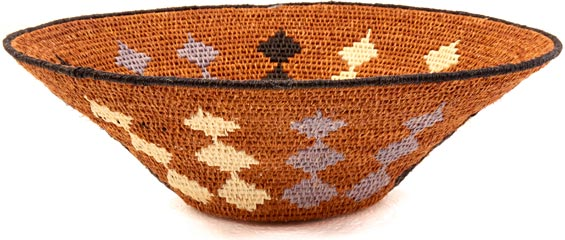 African Basket - Swaziland - Sisal Bowl -  9 Inches Across - #38850
