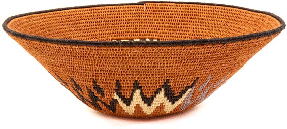African Basket - Swaziland - Sisal Bowl -  8.5 Inches Across - #38851