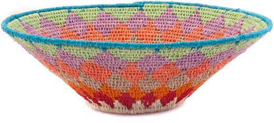 African Basket - Swaziland - Sisal Bowl -  7.75 Inches Across - #41621