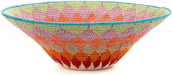 African Basket - Swaziland - Sisal Bowl -  9.25 Inches Across - #44383