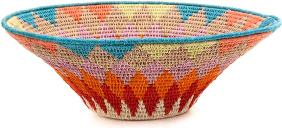 African Basket - Swaziland - Sisal Bowl -  9.5 Inches Across - #44385