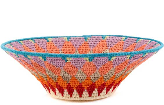 African Basket - Swaziland - Sisal Bowl -  8 Inches Across - #58937