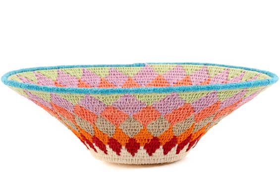 African Basket - Swaziland - Sisal Bowl -  9.5 Inches Across - #58939